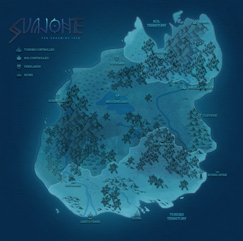 SVAJONE: the dreaming isle | official map by halloumicheese