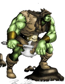 Orc Barbarian Color Treatment by UncannyBruceman
