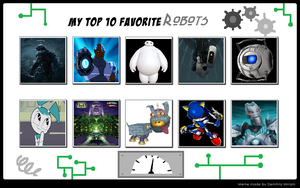 My Top 10 Robots by MarioFanProductions
