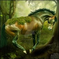 HEE Horse Artwork - Forest Spirit by WildWillowHEE