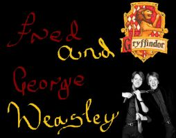 Fred and George Weasley by shannybabe123