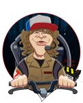 DUSTIN HENDERSON - CARICATURE by alemarques21