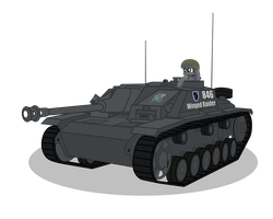 Silvia Wing driving Tank Destroyer STUG III by DolphinFox