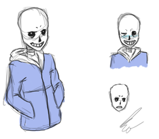 Sans Sketch for Comic by DieCrackfee(kv) by DieCrackfee