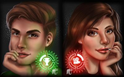 MatPat and Stephanie by melanellie