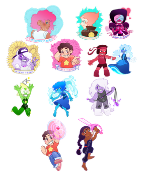 We... Are the Crystal Gems Stickers by Katsuomangaka