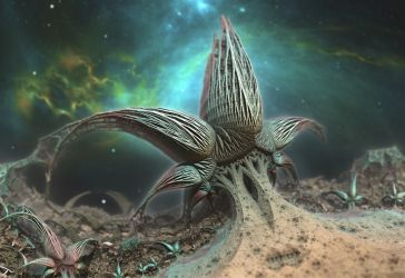Alien Star Plant by HalTenny