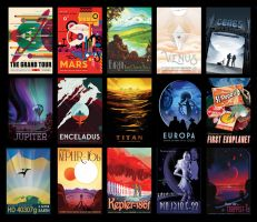 Space Tourism Posters by Raum01