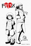 Undertale: Frisk + Older!Frisk by witch-girl-pilar