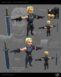 Paladin character by Livius3d