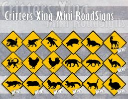 Miniature Roadsigns NEW MOTIFS AVAILABLE by BloodhoundOmega