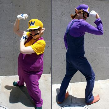 Wario and Waluigi cosplay by Viveeh