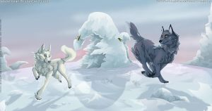Collab: Winter wonderland by SaQe
