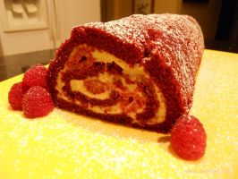Red Velvet Cake Roll (View A) by Sierie