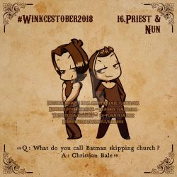 Winkcestober 2018 day 16: Priest and Nun by KamiDiox