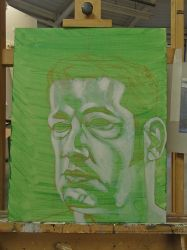 Self Portrait Competition Painting WiP2 by JohnMKimmins