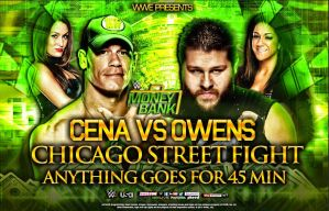 Cena Vs Owens MITB Custom Matchcard by DS951