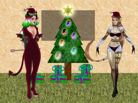 Christmas bad lady and Gypsy by netsurfer77