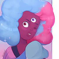 Cotton Candy Garnet by Kodabomb