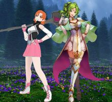 L'Arachel and Nora (FE x RWBY) by alienskiller1