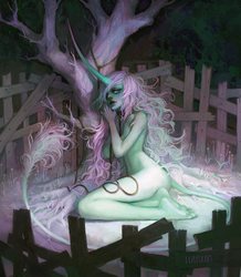 the unicorn in captivity by Chaotic-Muffin