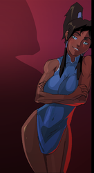 Korra is ready for bed by morganagod