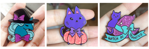 Enamel pins Halloween photos ALL by zambicandy