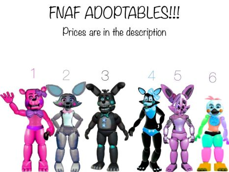 Fnaf Adoptables by Yandereanimatronic87