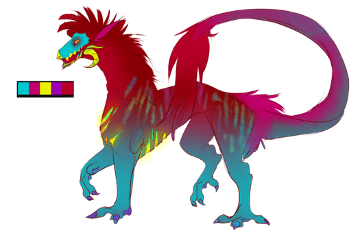 Rainbow Dragon Adopt: Closed by GalacticTachyon