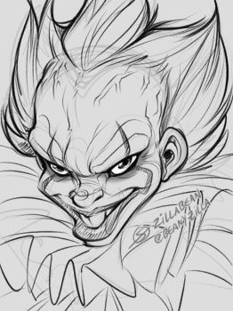 Pennywise doodle by zillabean