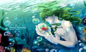[OC] Merman Emerald res by MizuYuKiiro
