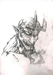 Demon Sketch by Laxus