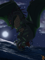 Flight Rising Contest: Ridgeback dragon by Killishandra
