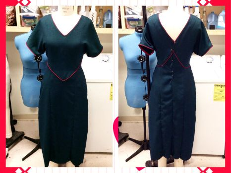 Corded Piping Dress by TallLeprechaun