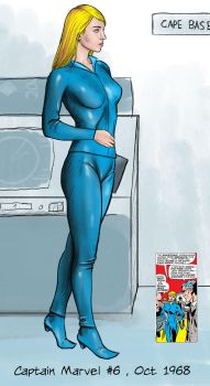 Carol Danvers, Cape Canaveral Head of Security by warriorneedsfood