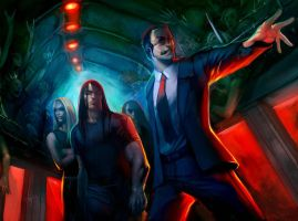 Metalocalypse-Dethklok-The fans are coming by WarMongerArt666