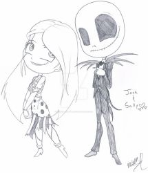 Jack and Sally Chibis by Inked-Alpha