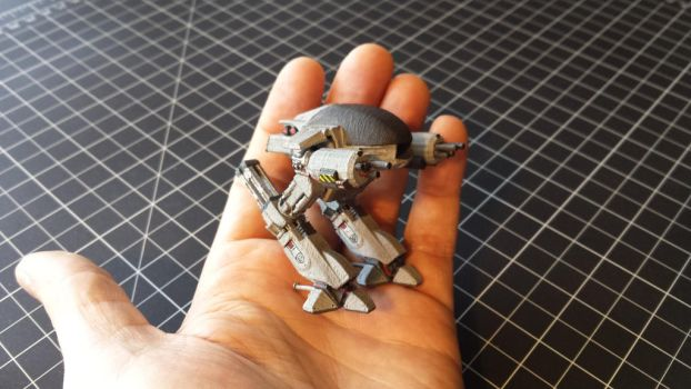 Hand painted ED-209 3D print by vytera