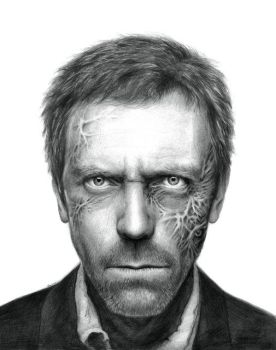 Hugh Laurie Drawing by Olechka01