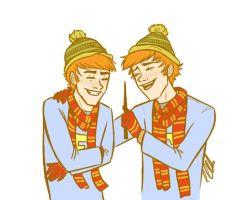 Fred and George by clarkey-lou