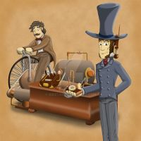 Phileas Fogg Goes Hands Free by Iddstar