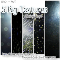 5 Big - Rainy Day Textures by thekawaiione