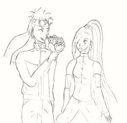 Giving Flowers to the Flower Girl by SacredWaterOfDreams