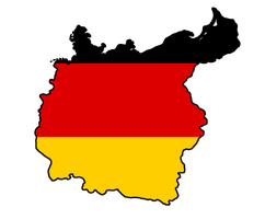 Greater Germany Flag Map by GeneralHelghast