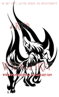 Flame Dance Wolf Tattoo by WildSpiritWolf