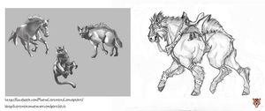Creature Concept Art and animal studies by kyusekai