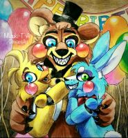 Toys / Toy Freddy,Chica,Bonnie FNaF by Mizuki-T-A