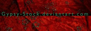 Red Velvet and Glitter Flowers by Gypsy-Stock