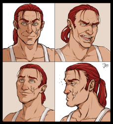 Commission: Juan portrait sheet by Eninaj27