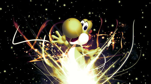 Yoshi Request (Wallpaper) by Hardii